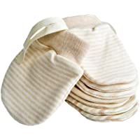 Mitones recién nacidos Anti Scratch Baby Mittens Mitones de algodón orgánico Guantes para bebés de 0 a 6 meses