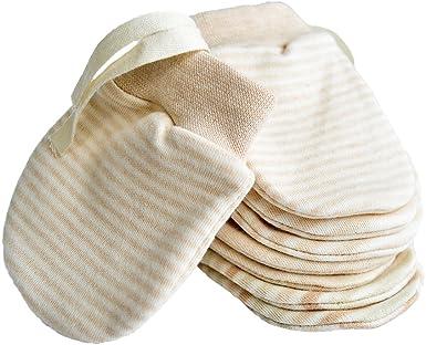 Mitones recién nacidos Anti Scratch Baby Mittens Mitones de algodón orgánico Guantes para bebés de 0 a 6 meses: Amazon.es: Ropa y accesorios