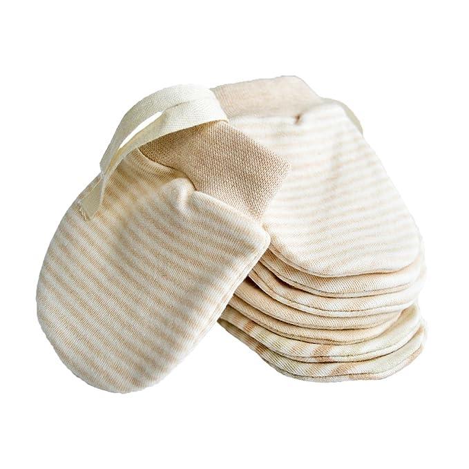 Mitones recién nacidos Anti Scratch Baby Mittens Mitones de algodón ...