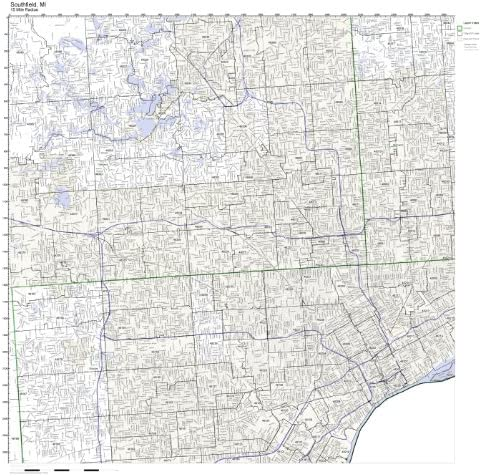 Southfield Mi Zip Code Map Amazon.com: Southfield, MI ZIP Code Map Not Laminated: Home & Kitchen