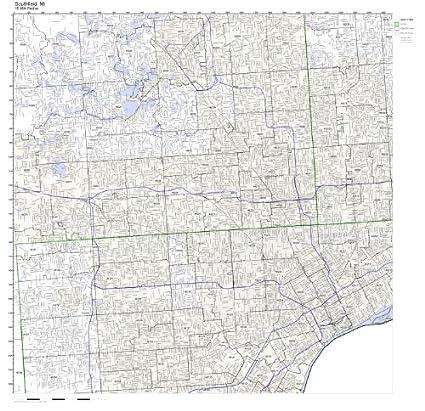 Amazon.com: Southfield, MI ZIP Code Map Not Laminated: Home & Kitchen