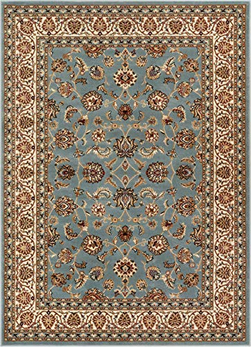 Noble Sarouk Light Blue Persian Floral Oriental Formal Traditional Area Rug 3x5 4x6 ( 3'11