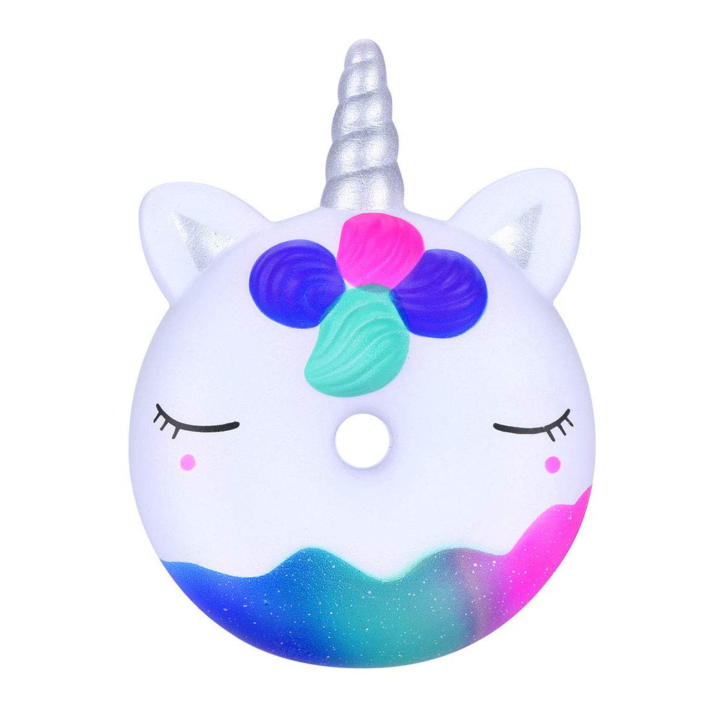 Mikilon Squishies Slow Rising Jumbo Kawaii Cute Unicorn Donut Creamy Scent for Kids Party Toys Stress Reliever Toy