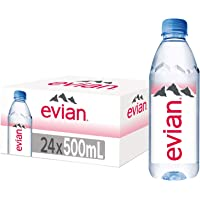 Evian Natural Mineral Water, 500ml (Pack of 24)