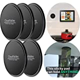 CloudValley Sticky Gel Pads - Gripping Pad [5 Pack], Multifunctional Sticky Cell Pad, Non-Slip mats Holds Cell Phones, Coins,