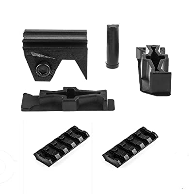 Worker Mod Front Rail Adapter Set with 2PCS 5cm Rail for Nerf Stryfe Color Black: Toys & Games