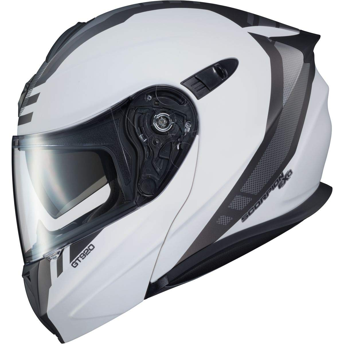 Large Matte Black//Dark Grey Unit Scorpion EXO-GT920 Helmet