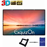 ExquizOn 100 Pollici 16:9 Telo per Proiettore Schermo Portatile, Schermo Pieghevole, con Alta qualità HD Portatile per Uso Domestico ed Esterno, per Riunione.