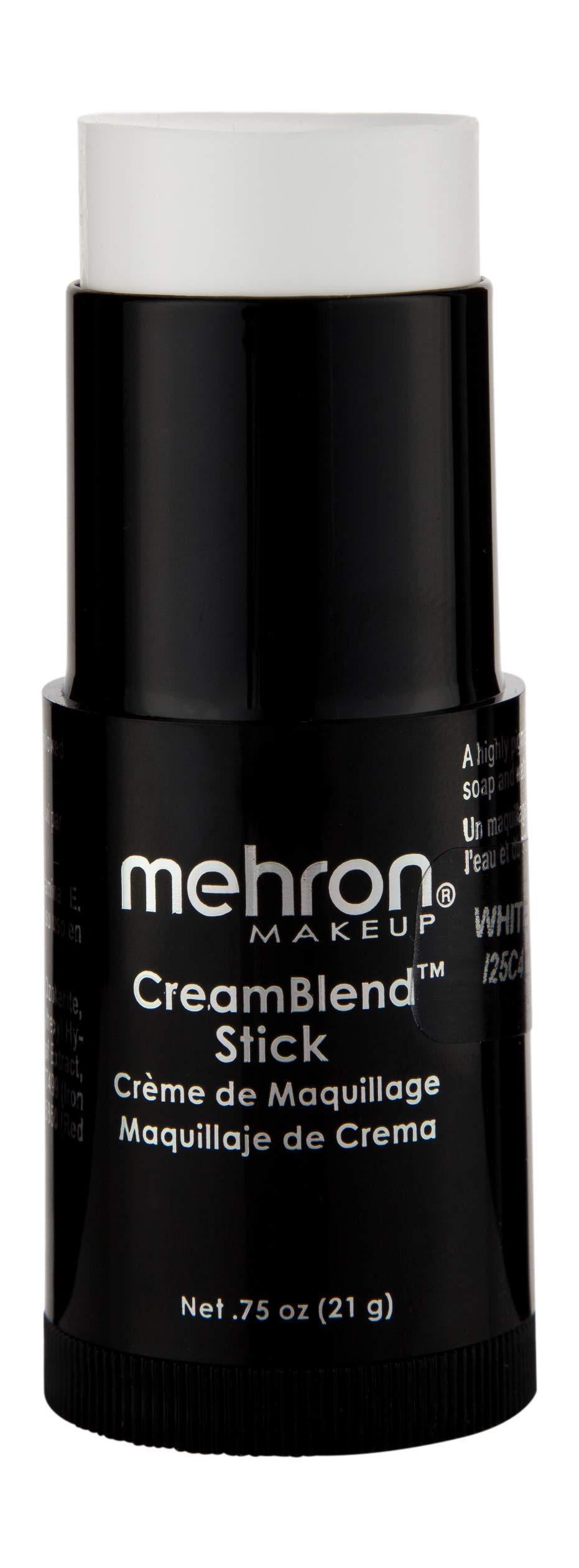Mehron Makeup CreamBlend Stick (0.75 Ounce) (White) by Mehron