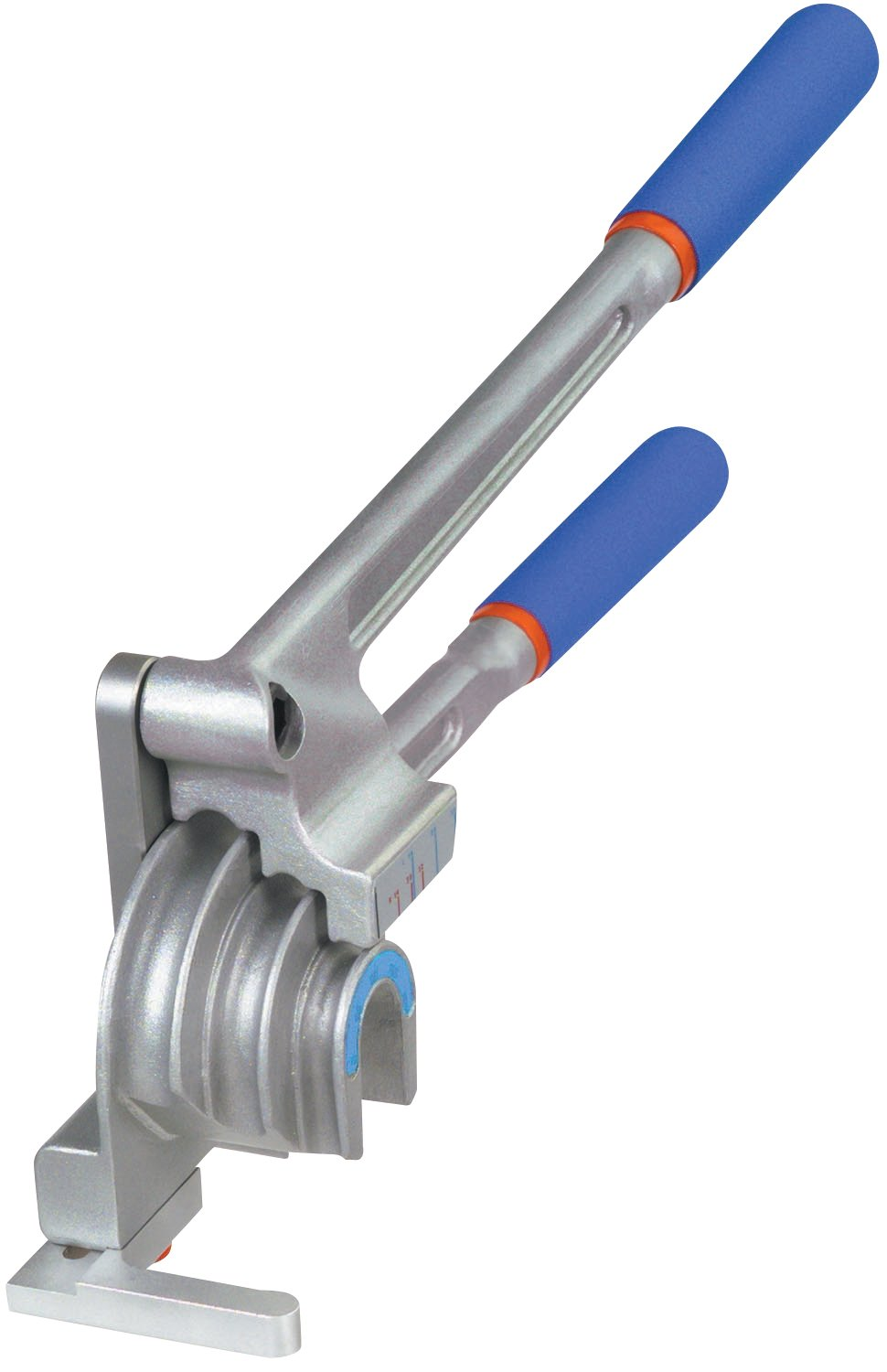 Imperial Stride Tool 370-FHC 3/16', 1/4', 3/8', 1/2', Alum, Copper, Steel Triple Header 180 degree Benders, Silver/Blue 1/4 3/8 1/2
