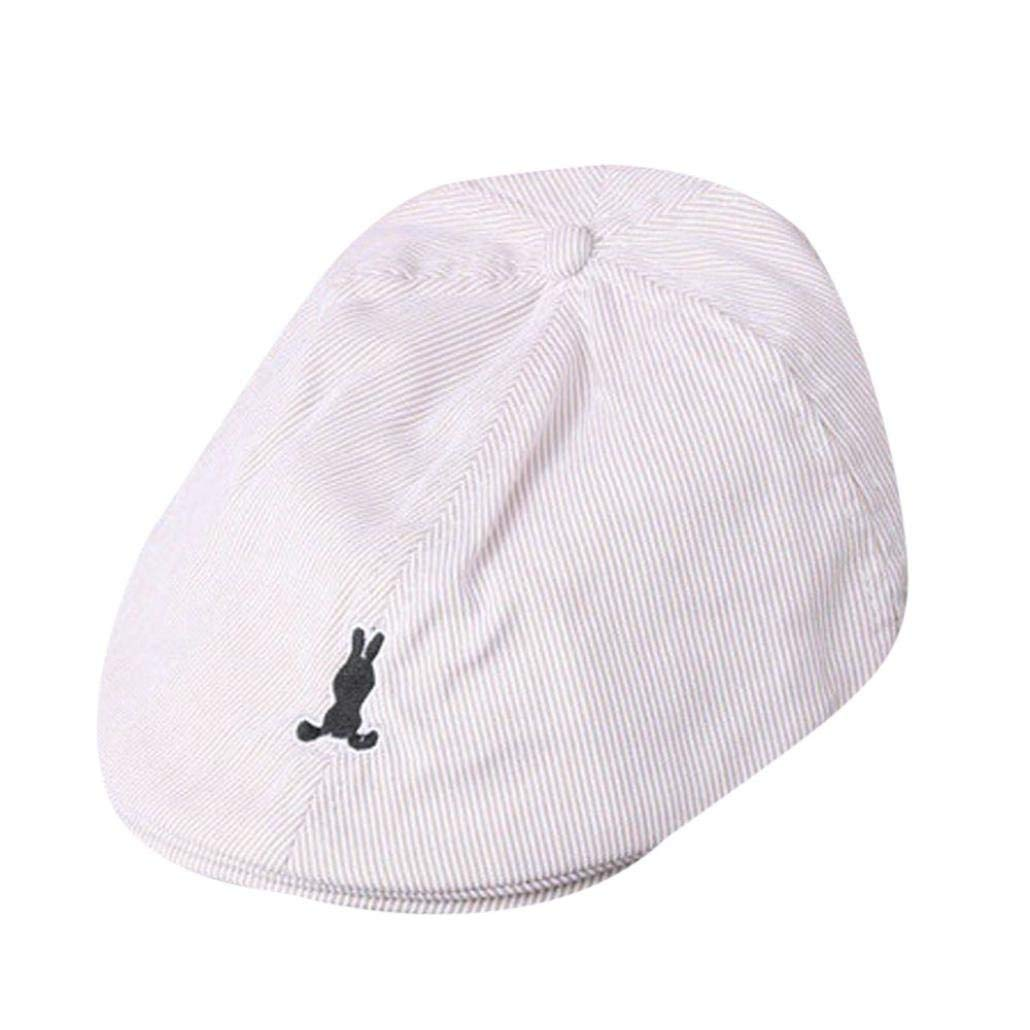 Voberry Baby Boy Kids Toddler Beret Cabbie Flat Peaked Hat River Cap HM666124234BG