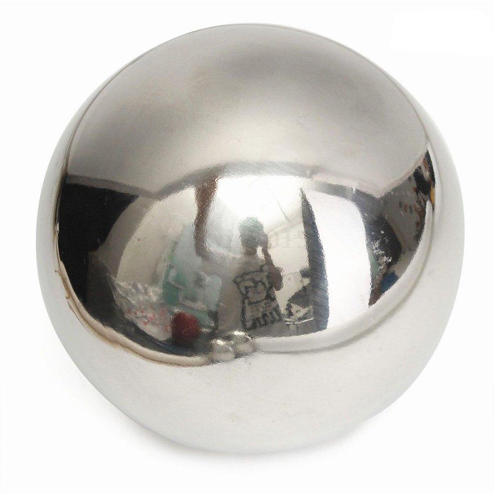 EMVANV Stainless Steel Mirror Sphere Ball Hollow Gazing Balls Home Garden Ornament Decoration(51MM)