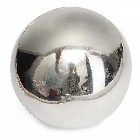 Esfera de acero inoxidable con efecto espejo, bola hueca disponible en 5 tamaños, decoración para casas y jardines, As Picture Show, 5.1cm