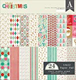 Authentique Colorful Christmas 12 x12 Cardstock Paper Pad