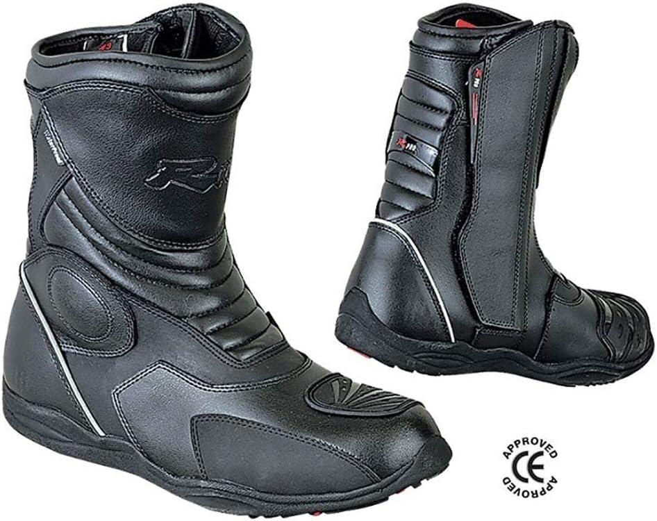 39-47 Wasserdichte Farbe Schwarz CE Zertifiziert 39 Schwarz BIESSE Motorradstiefel Enduro Touring aus echtem Leder Gr