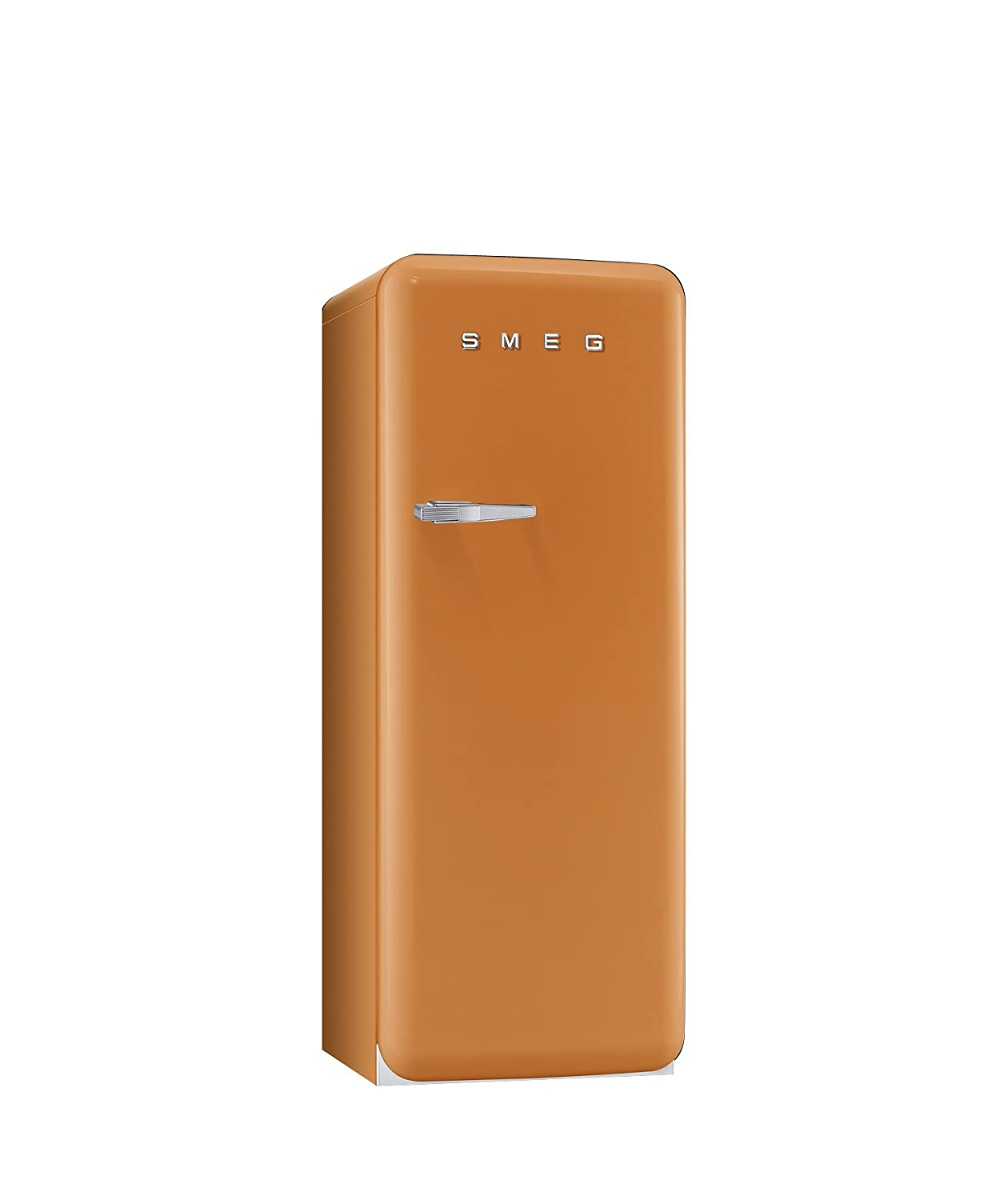 Smeg FAB28UOR 50'S Style Refrigerator with Ice Compartment, Right Hand Hinge 9.22 Cu. Ft., Orange