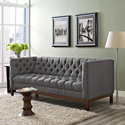 Amazon.com: Modern Contemporary Fabric Sofa , Grey, Fabric ...