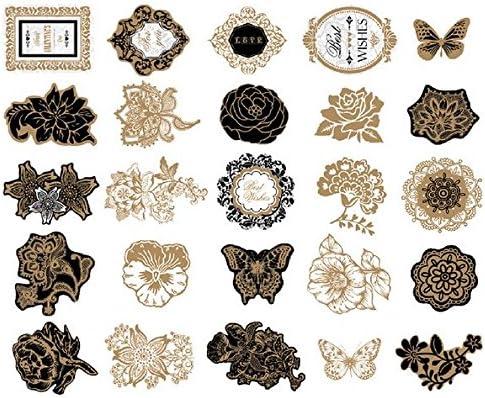 Woodmin Ephemera Pack Vintage Scrapbook Supplies Etiquetas Die-Cut Paper Pack Nota y etiqueta Die cuts (25 Piezas, SD019): Amazon.es: Hogar
