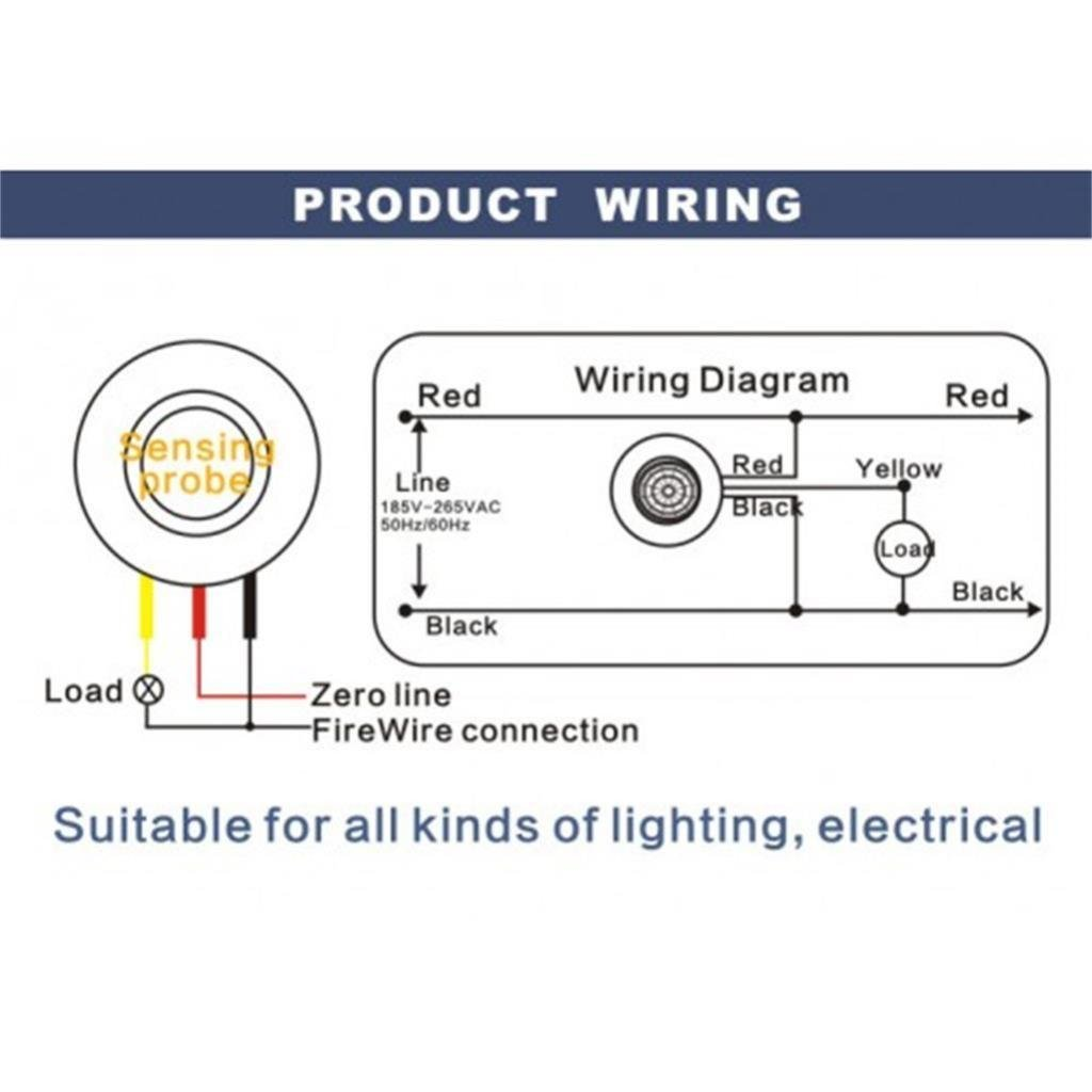 Magideal 12v Electric Led Infrared Pir Motion Sensor Firewire Wiring Diagram Detector Stairs Ceiling Light Switch On Off Delaying Timer Industrial Scientific
