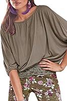 Lacostew Women's Lace Crochet Shirt Loose Short Sleeve Blouse Top