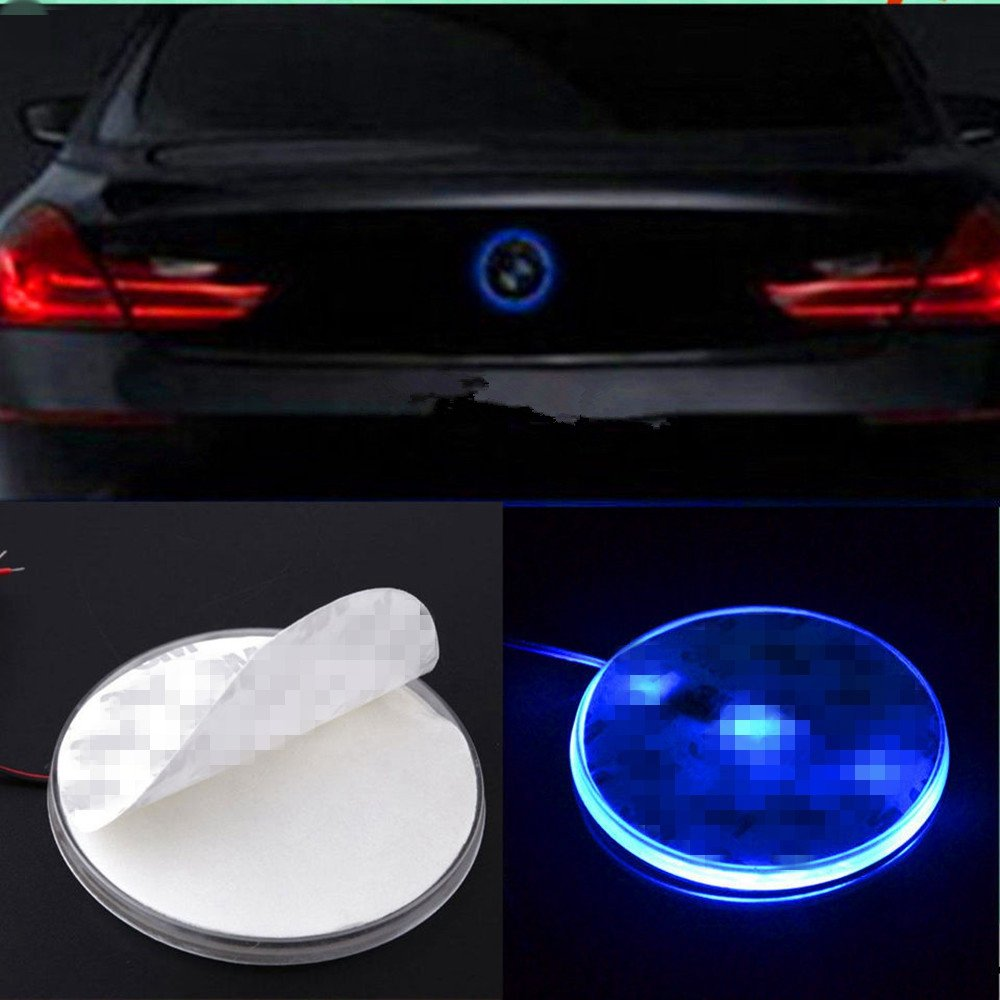 TS Trade Car 82mm Badge Emblem LED Background Light