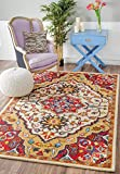nuLOOM MJSM37A Traditional Medallion Tufted Area Rug, 3′ x 5′, Red Review