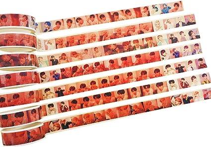 calendario /álbumes de recortes Skisneostype Kpop BTS Tape proyectos de bricolaje color H08 /Álbum de fotos con textoMAP of the Soul: Persona para arte y artesan/ía