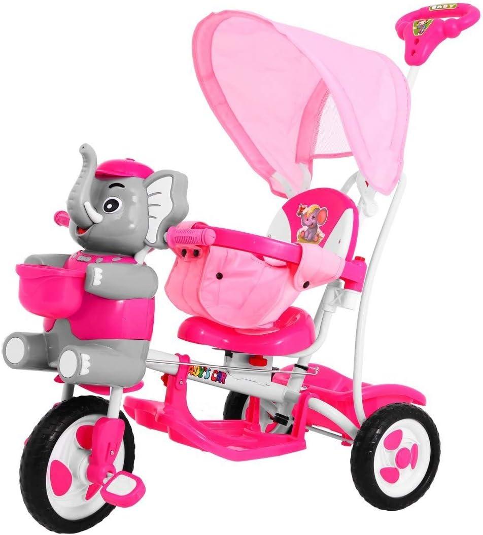 BSD Bicicleta Triciclo Bicicleta para Niños - Elefante Feliz - Rosa