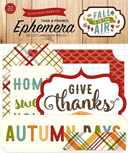 Echo Park Paper Company Fall is in The Air Frames & Tags Ephemera