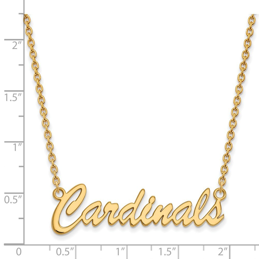 Solid 925 Sterling Silver with Gold-Toned U of Louisville Medium Pendant with Necklace 40mm