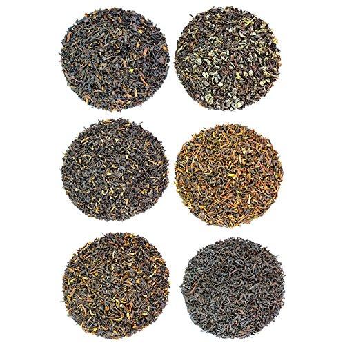 Loose Leaf Breakfast Tea Sampler, 6 Varieties Pack of Black Teas, English Breakfast, Irish, Scottish, Indian, and more Makes 120+ Cups of Tea