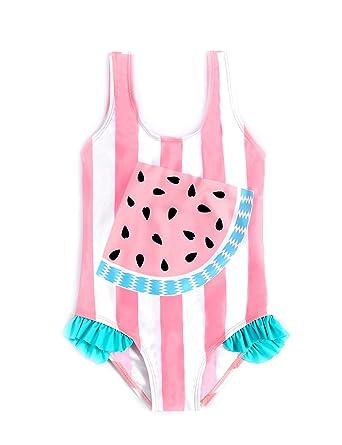 0fb6d5d0af FreeLu Baby Girls' One Piece Cartoon Swimsuit Animal Print Bathing Suit  Ruffles Swimwear Cute Baby