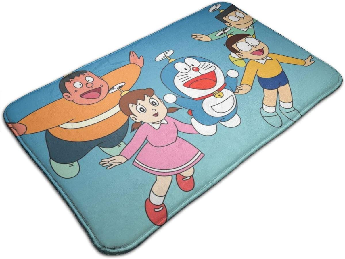 LXLCJJ Doraemon Dormitorio 50 cm x 80 cm Alfombra de ba/ño de Microfibra Suave Antideslizante para Sala de Estar