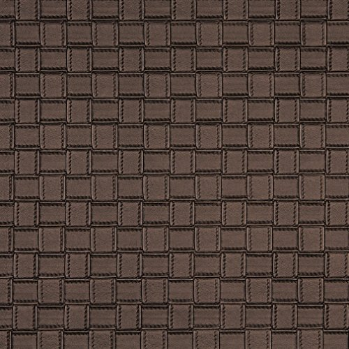 - G661 Bronze Metallic Basket Woven Look Upholstery Faux Leather By The Yard