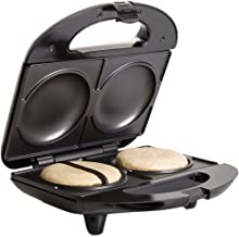 Holstein Housewares HH-0937013SS Fun Arepa and Mini Empanada Maker - Stainless Steel