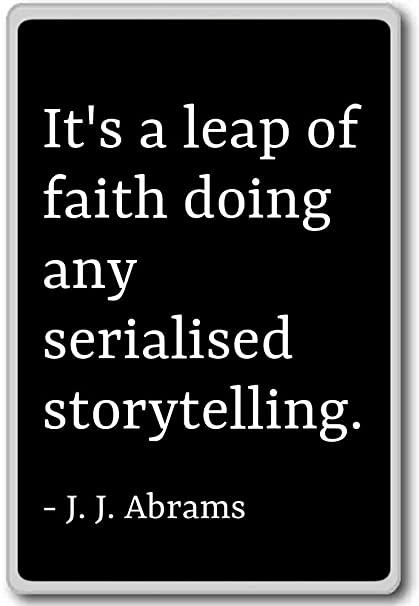 Amazoncom Its A Leap Of Faith Doing Any Serialised Stor