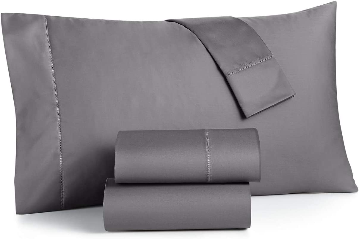 Charter Club Damask Solid 550 Thread Count Supima Cotton 4 Piece King Sheet Set Mint