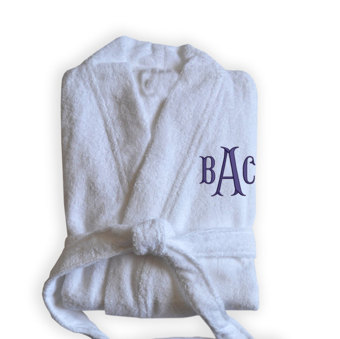 Amore Beaute Handcrafted Personalized White Bath Robes -Monogrammed Spa Robe -Custom Bridesmaid Gift -With Embroidery -Gift -Wedding Gift -Custom Robe -Christmas Gifts White_Bath_Robe_Monogram