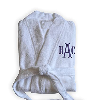 Amore Beaute Handcrafted Personalized White Bath Robes -Monogrammed Spa Robe  -Custom Bridesmaid Gift - bfb8bb379
