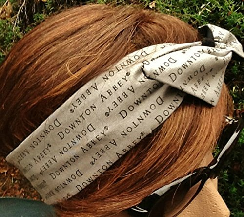 Wired Headband Dolly Bow Downton Abbey Bandanna Print Print Wired Dolly bow Rockabilly Wire Scarf Headband Bohemian Rabbit Ears