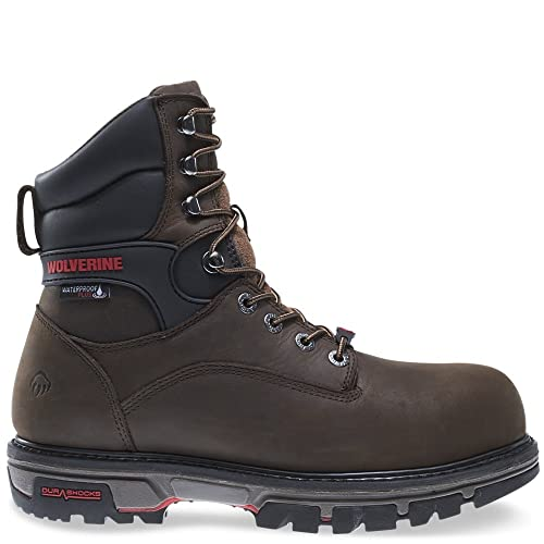 93aee445a05 Wolverine Men's Nation 8 Inch Insulated Waterproof Comp Toe Work Shoe