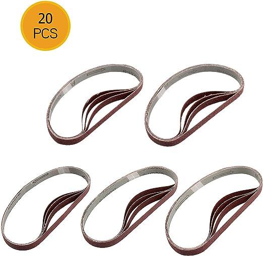 20 Pack 1//2 X 12 Inch 220 Grit Aluminum Oxide Air File Sanding Belts