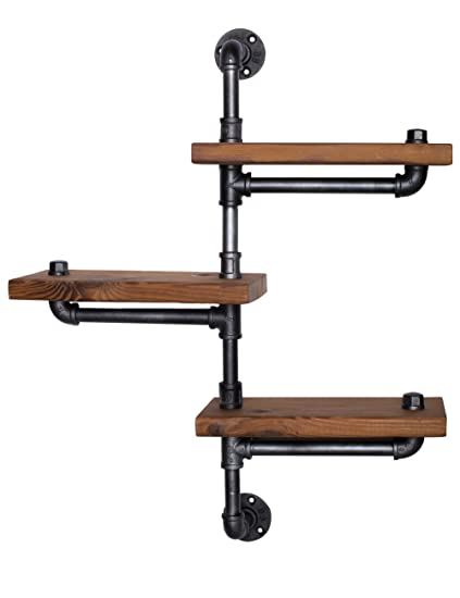 Find Joy Industrial Pipe Shelving Bookshelf Bathroom Ladder Shelf