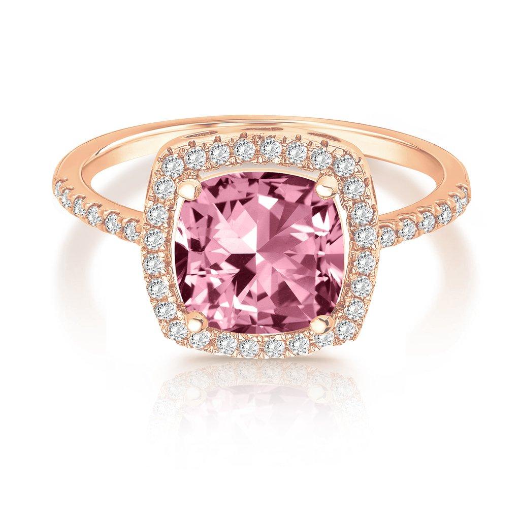 Amazon.com: SWAROVSKI Crystal 14K Rose Gold Plated Cushion Cut ...