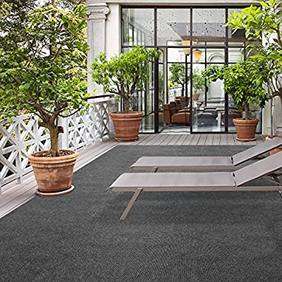 iCustomRug Affordable Indoor/Outdoor Carpet with Marine Backing, Many Sizes Available - Carpet Flooring for Patio, Porch, Deck, Boat, Basement or Garage