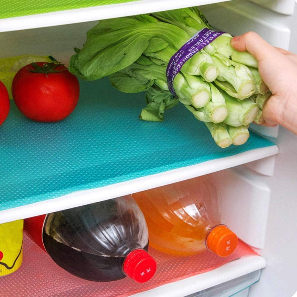 ALEENFOON Kühlschrankmatte, Satz von 18 Stück Waschbar Zuschneidbar  Antirutschmatte Schubladenmatte Schrankmatten Küche Abwischbar Tischset  Schuhmatte