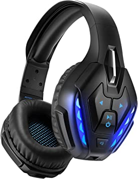 Amazon Com Yotms Wired Gaming Headset For Ps4 Xbox One Pc Nintendo Switch With Detachable Mic Bluetooth Wireless Over Ear Headset With Bulit In Mic 40 Hours Of Use Noise Cancelling Headphones Blue