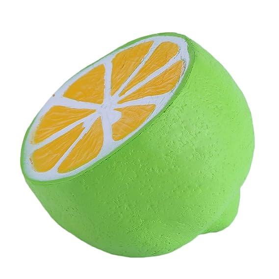 VBESTLIFE Juguetes de alivio del estrés, 4,3 pulgadas Jumbo PU suave lento crecimiento Squishy aroma Charms Squeeze Lemon: Amazon.es: Electrónica