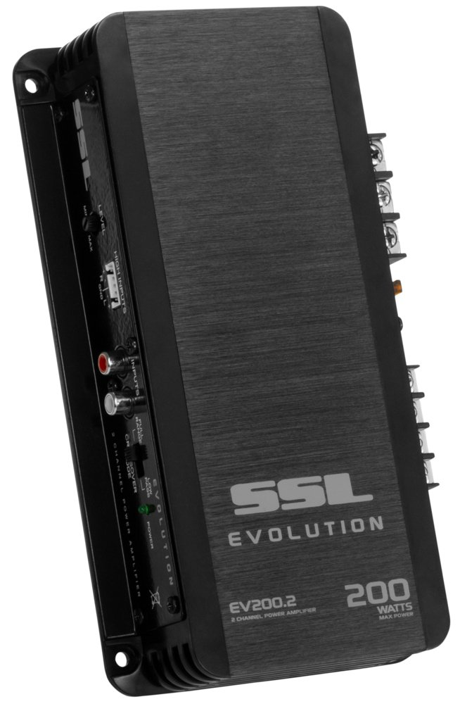 Sound Storm EV200.2 Evolution 200 Watt, 2 Channel, 2 to 8 Ohm Stable Class A/B, Full Range, Car Amplifier