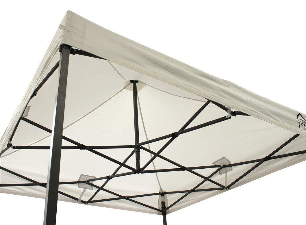 stabil ; Lieferung mit Tragetasche mit 4-Jahreszeiten-Pavillon 2/x 2/m voll- wasserdicht gleiche Qualit/ät wie das Dach PVC-beschichtet Premium Pop-Up-Pavillon mit 4/x 100/%-wasserdichten Seitenteilen mit Rei/ßverschl/üssen